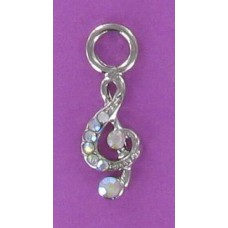 CHBRN 95 AB Treble Clef Earring Charm (Silver Only)