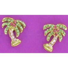 ER 1207G Gold Palm Tree Earrings
