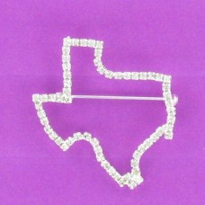 BR 1210 Texas Outline Brooch