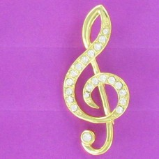 BRN 10NN Treble Clef Brooch