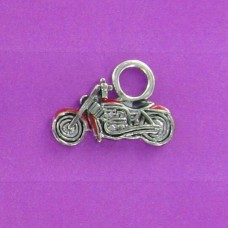 CH 1143 Motorcycle Earring Charm