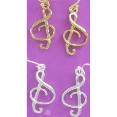 ER 1006  Treble Clef Earrings